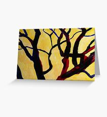 Yellow Tree 1 Greeting Card
