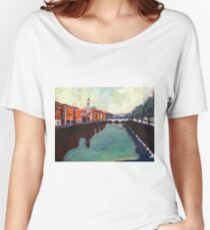 Liffey, Arran Quay and Ushers Quay - Dublin Women's Relaxed Fit T-Shirt