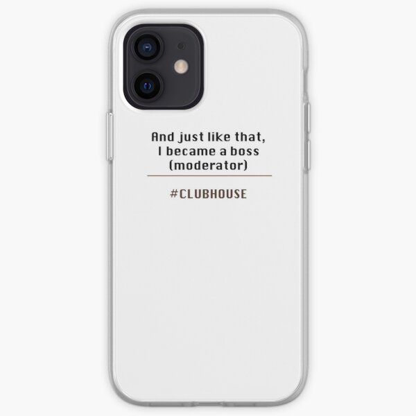 Clubhouse moderator iPhone Soft Case