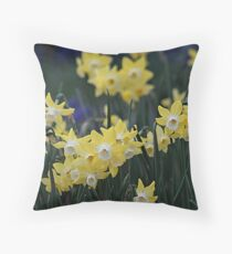 Happy jonquils Throw Pillow