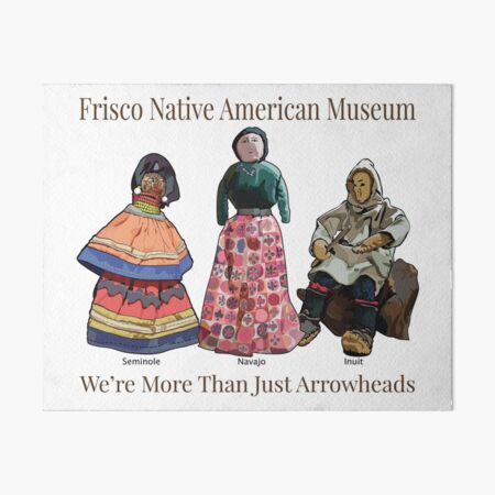 Native American Dolls Art Board Print