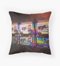 Mario Kart Arcade Driving Game  Throw Pillow