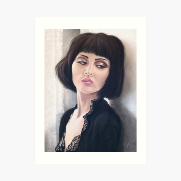 Pensive beauty Art Print