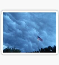Strong winds as gust front moves overhead Sticker