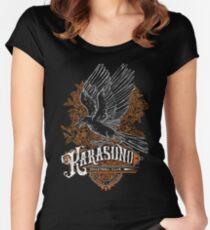 Haikyuu Team Types: Karasuno Black Fitted Scoop T-Shirt