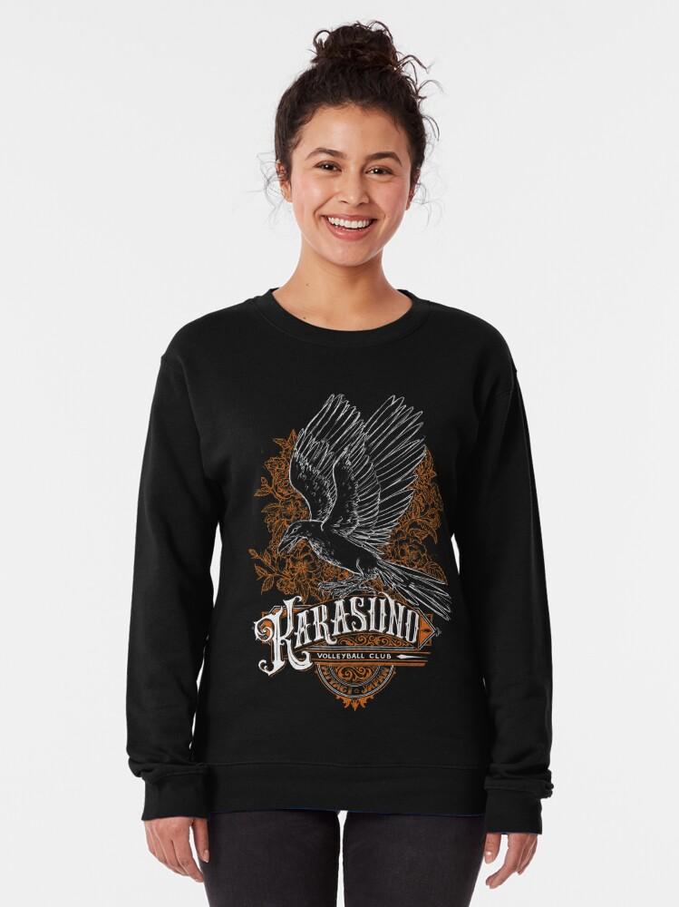 Alternate view of Haikyuu Team Types: Karasuno Black Pullover Sweatshirt