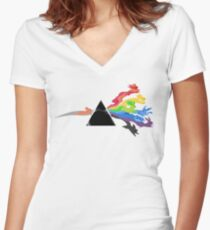 The 7 Eevee's evolutions Women's Fitted V-Neck T-Shirt
