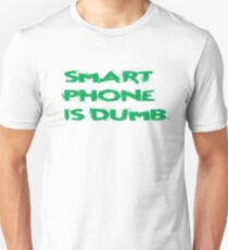 Smart Phone Funny Popular Social Network Text T-Shirt