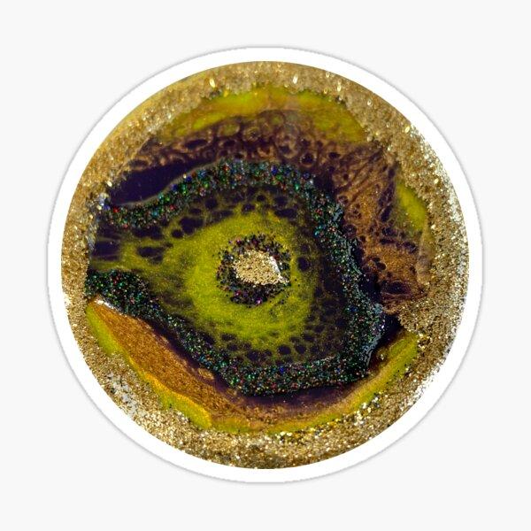 Green Geode Resin Art Photo Sticker