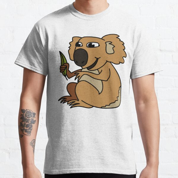 Koala. Iconic Australian Animal coloured with gumleaf. Classic T-Shirt