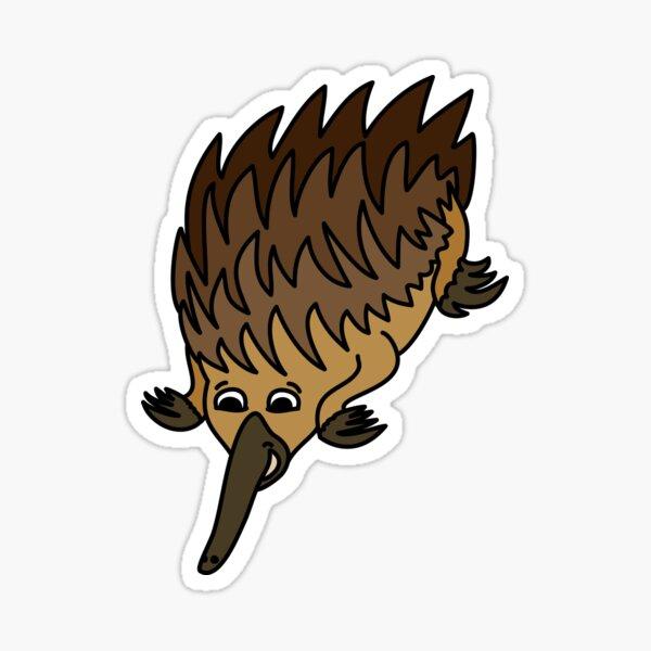 Echidna. Iconic Australian Animal coloured. Sticker