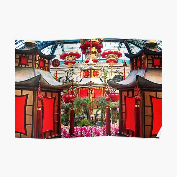 Chinese New Year decorations Bellagio, Las Vegas Poster