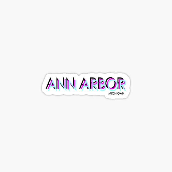 Ann Arbor neon Sticker