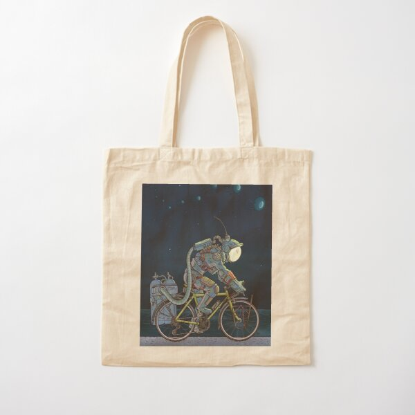 Lake Front Trail Cotton Tote Bag