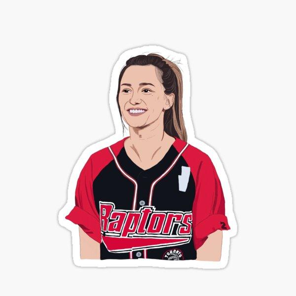 Kat Barrell in Raptors jersey Sticker