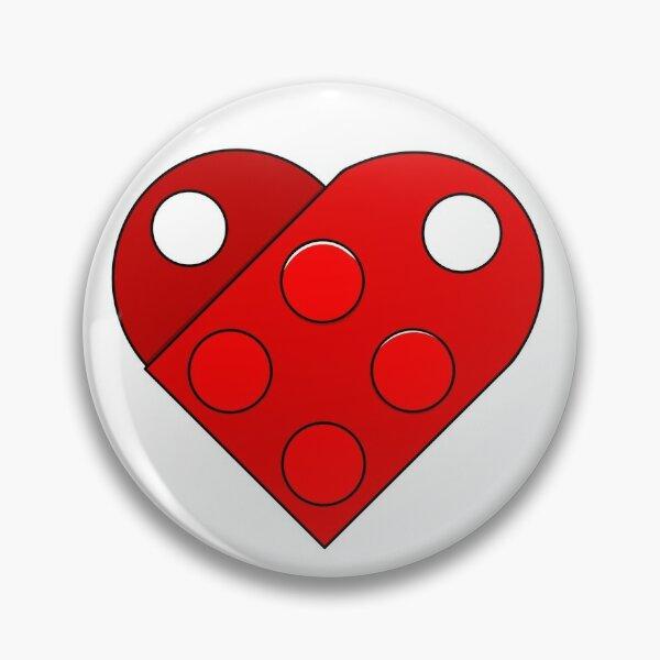 Lego Brick Heart Pin