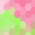 Watercolor Honey (Pink & Green) by xanaduriffic