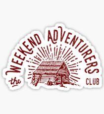 Weekend Adventurers Club Sticker
