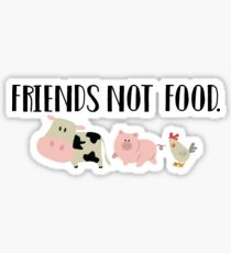 Pegatina Friends Not Food - Animales