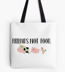 Friends Not Food - Animals Tote Bag