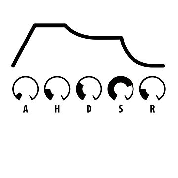 AHDSR Envelope (black graphic) by skyre