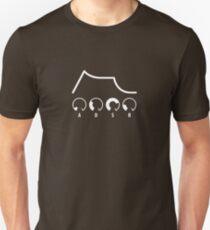 ADSR Envelope (white graphic) Unisex T-Shirt