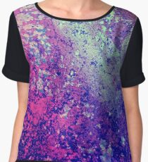 Abstract Speckles Women's Chiffon Top
