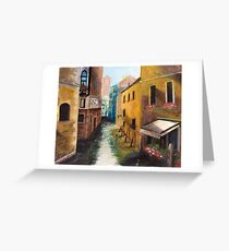 Venetian canal Greeting Card