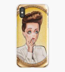 Bette Davis (Gold Frame) iPhone Case/Skin