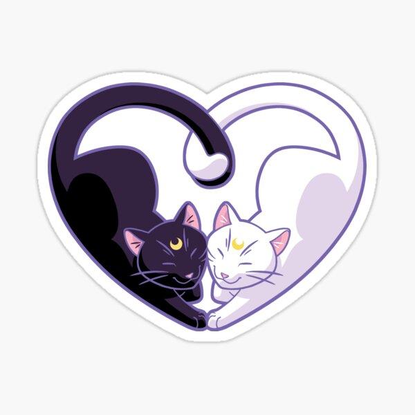 Moon Kitty Love Sticker
