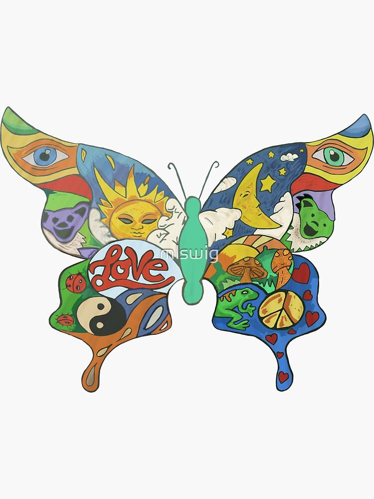 psychedelischer Schmetterling von mlswig