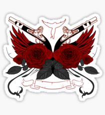 Guns and Roses RED 2 Sticker