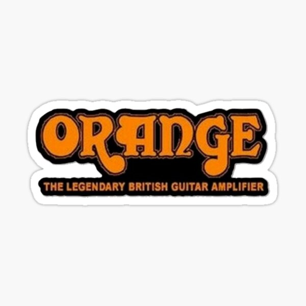 Orange Amplification Sticker