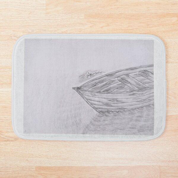 cast away (wooden boat) Bath Mat