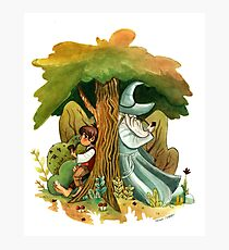 Bilbo Baggins and Gandalf Photographic Print