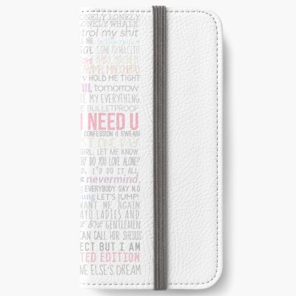 BTS Lyrics iPhone Wallet