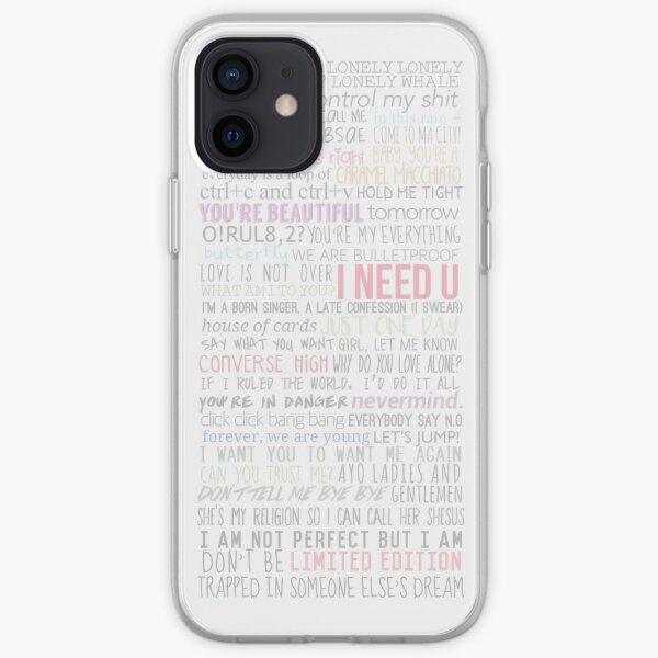 BTS Lyrics iPhone Soft Case