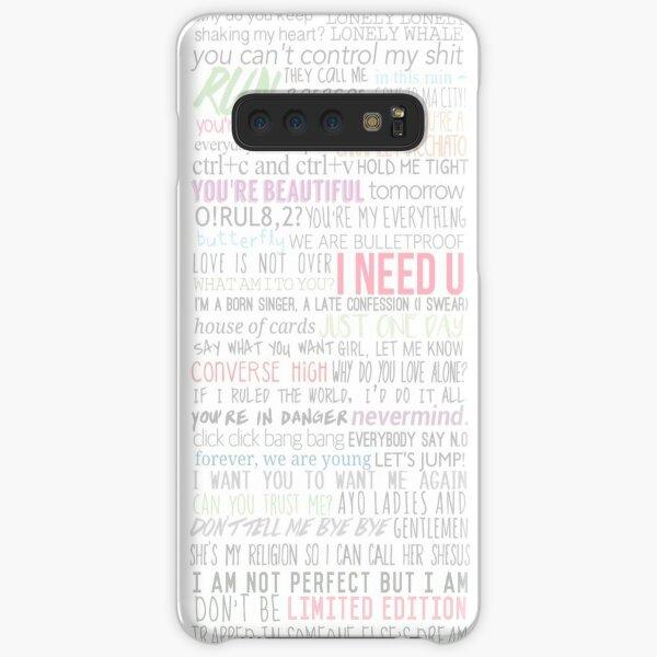 BTS Lyrics Samsung Galaxy Snap Case