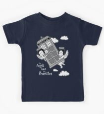 The Angels have the Phone Box - Version 3 BW (for dark tees) Kids Tee