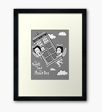 The Angels have the Phone Box - Version 3 BW (for dark tees) Framed Print
