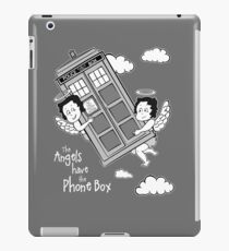 The Angels have the Phone Box - Version 3 BW (for dark tees) iPad Case/Skin
