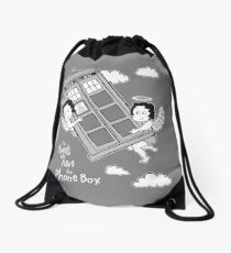 The Angels have the Phone Box - Version 3 BW (for dark tees) Drawstring Bag