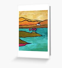 House, Trees - Conamara, Ireland Greeting Card