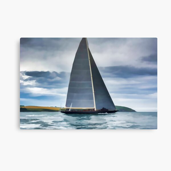 America/'s cup J boats Canvas Print