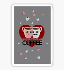 Always & Forever with Coffee - Heart Sticker