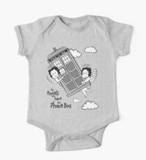The Angels have the Phone Box - Version 3 BW (for light tees) Kids Clothes