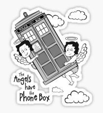 The Angels have the Phone Box - Version 3 BW (for light tees) Sticker