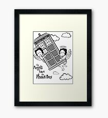 The Angels have the Phone Box - Version 3 BW (for light tees) Framed Print