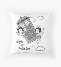 The Angels have the Phone Box - Version 3 BW (for light tees) Throw Pillow