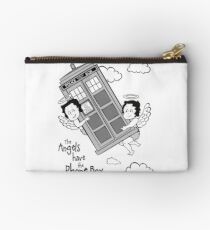 The Angels have the Phone Box - Version 3 BW (for light tees) Studio Pouch